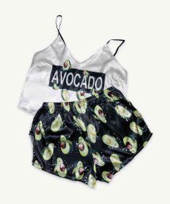 piżama avocado czarna