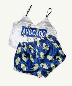 piżama avocado szafirowa
