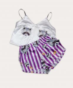 piżama szop fioletowa
