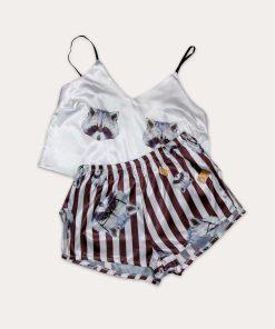 piżama szop kasztanowa