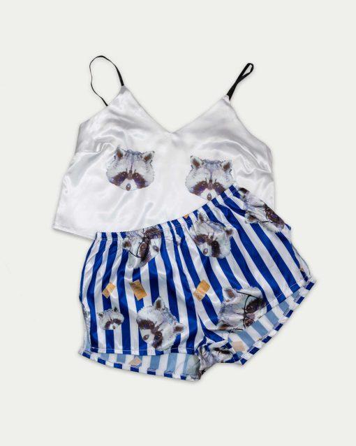 piżama szop szafirowa