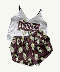 piżama avocado kasztanowa