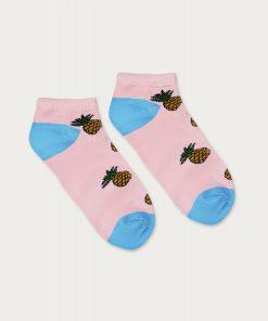 skarpetki stopki damskie ananas różowy