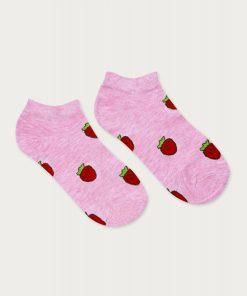 skarpetki stopki damskie truskawka różowy