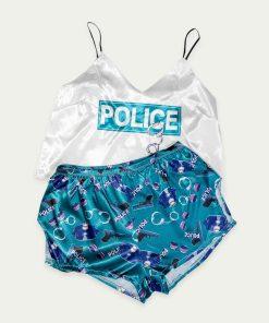 piżama police morska