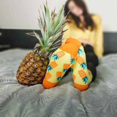 skarpetki z ananasem